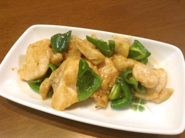 鶏肉とピーマンの味噌炒め
