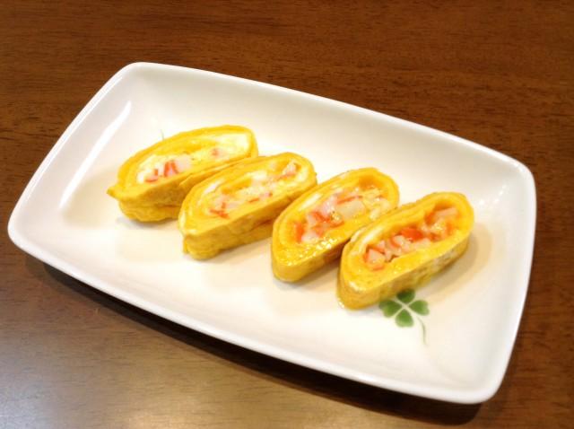 マヨかまぼこ入り卵焼き