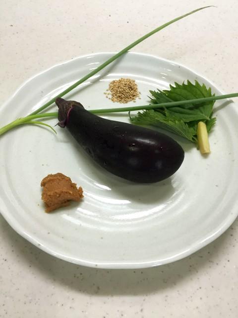 茄子のたたきの材料イメージ