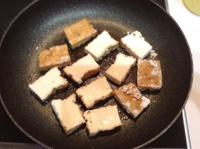 厚揚げのピリ辛ステーキ手順1