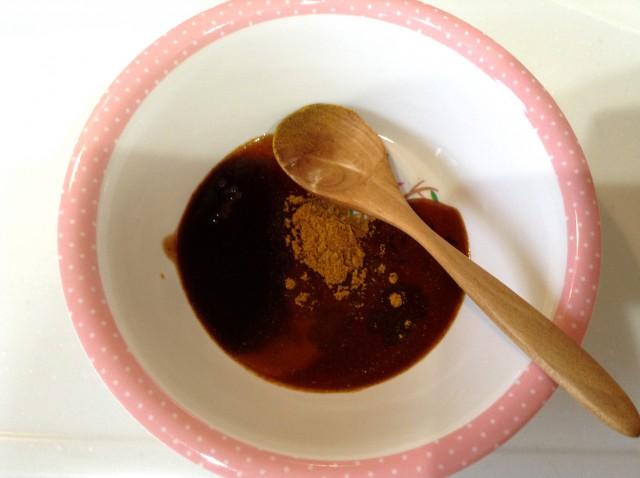 ナスとピーマンのカレーソース炒め手順2