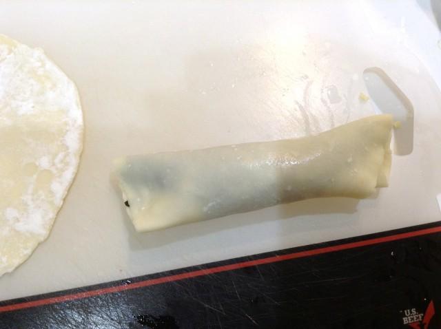 大葉とチーズのくるくる巻き手順2