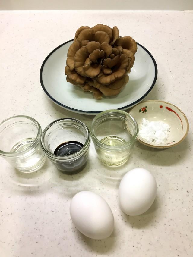 舞茸の卵とじの材料イメージ