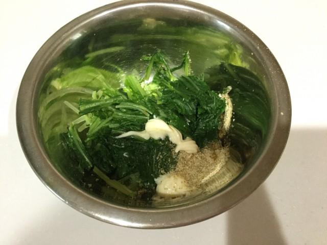水菜のゴママヨ和え手順3