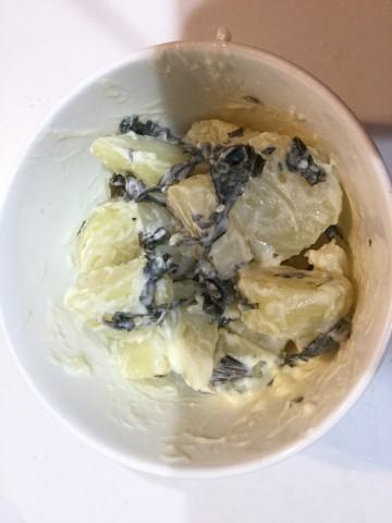 ポテトの青シソマヨ和え手順3