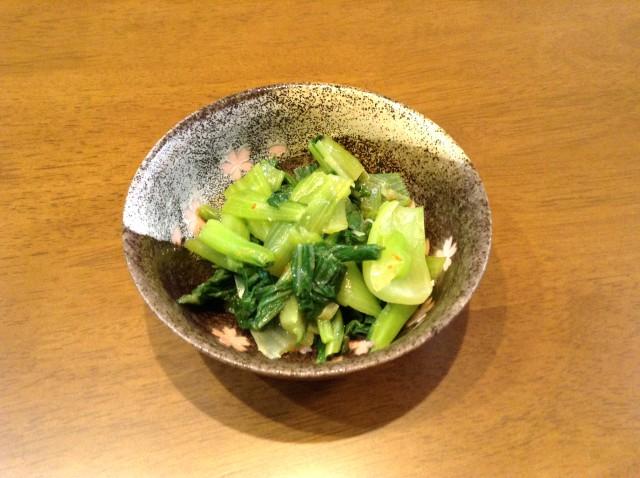 ピリ辛!小松菜で中華風お浸し