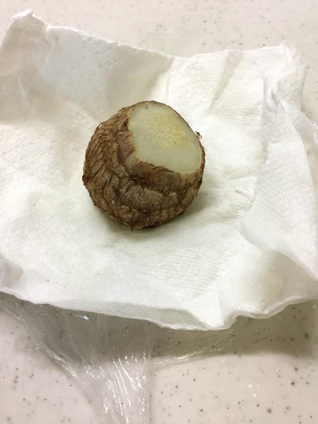里芋のにんにく味噌手順4