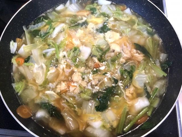 柚子が香る!たっぷり野菜のとろとろあんかけ卵とじ手順5