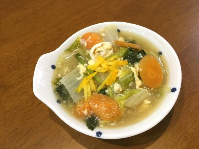 柚子が香る!たっぷり野菜のとろとろあんかけ卵とじ