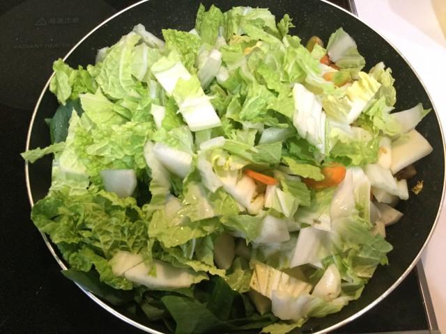 たっぷり野菜と鮭の甘味噌煮込み手順2