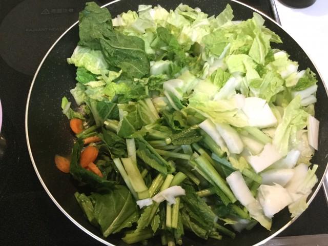 柚子が香る!たっぷり野菜のとろとろあんかけ卵とじ手順1