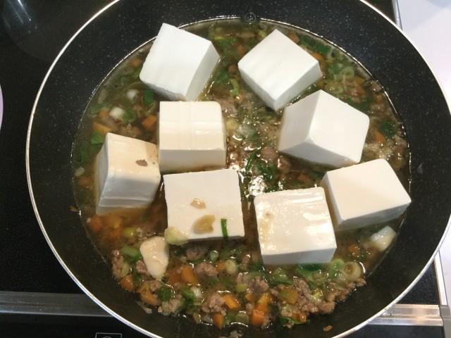 ひき肉と野菜入り!とろ~りあんかけ豆腐手順4
