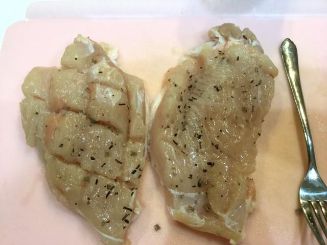 鶏肉とポテトのガーリックポン酢手順1