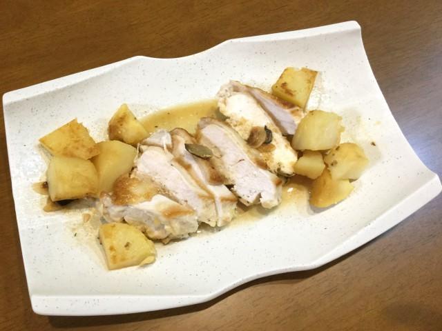 鶏肉とポテトのガーリックポン酢
