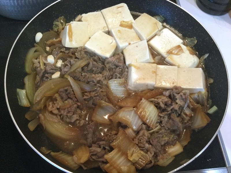 甘辛くて美味しい♪野菜たっぷり肉豆腐手順5