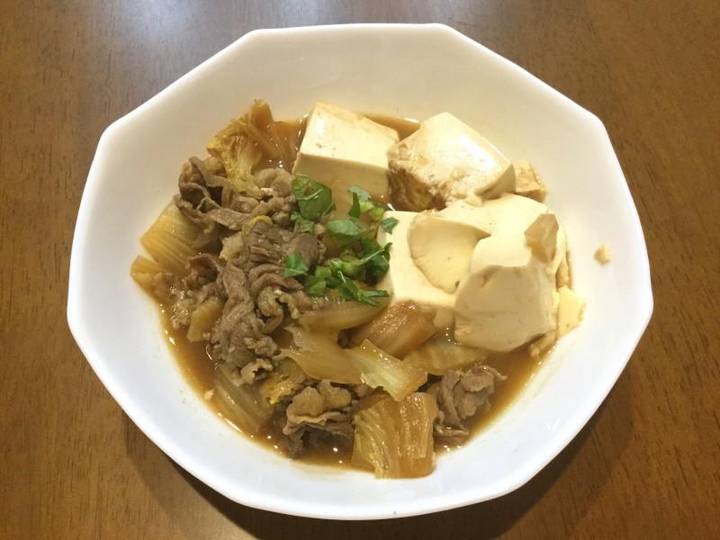すき焼き の たれ 肉 豆腐
