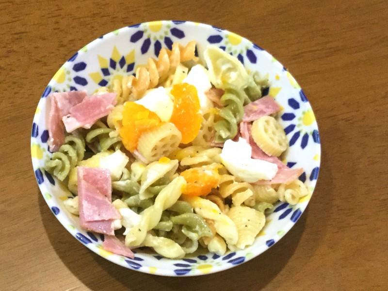 半熟卵のマカロニサラダ