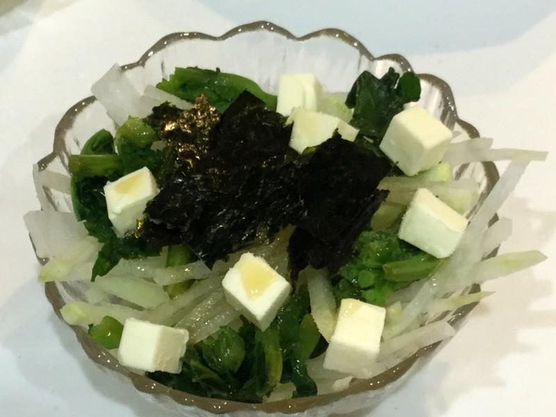 シャキシャキ大根と海苔ゴマチーズの春色サラダ手順3