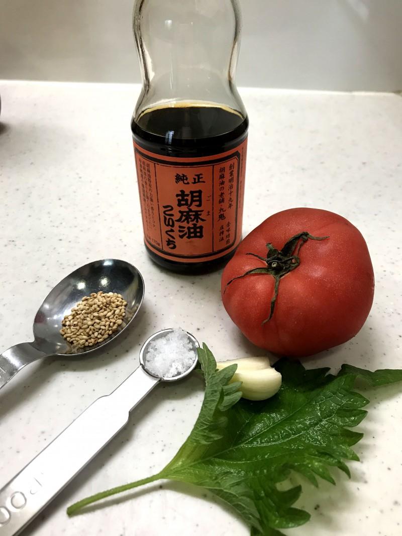 トマトのナムルの材料イメージ