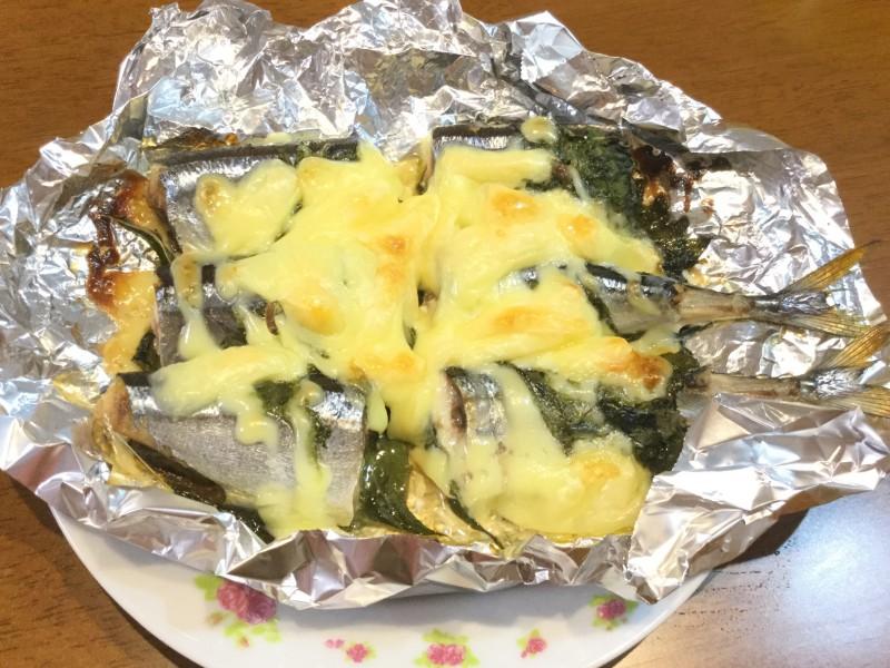 トースターで簡単!サンマと青じそのマヨチーズ焼き