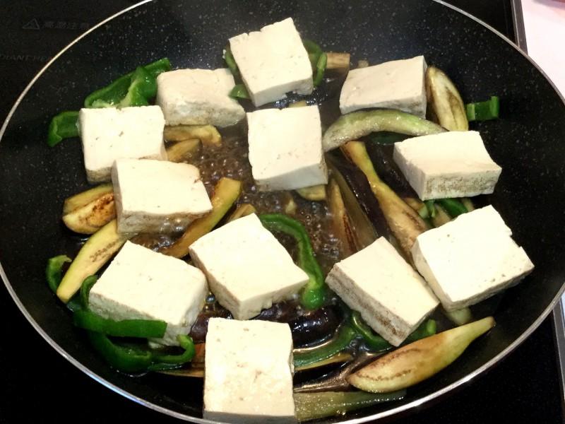 おだしがじゅわ~!ナスとピーマンと豆腐の煮びたし手順3