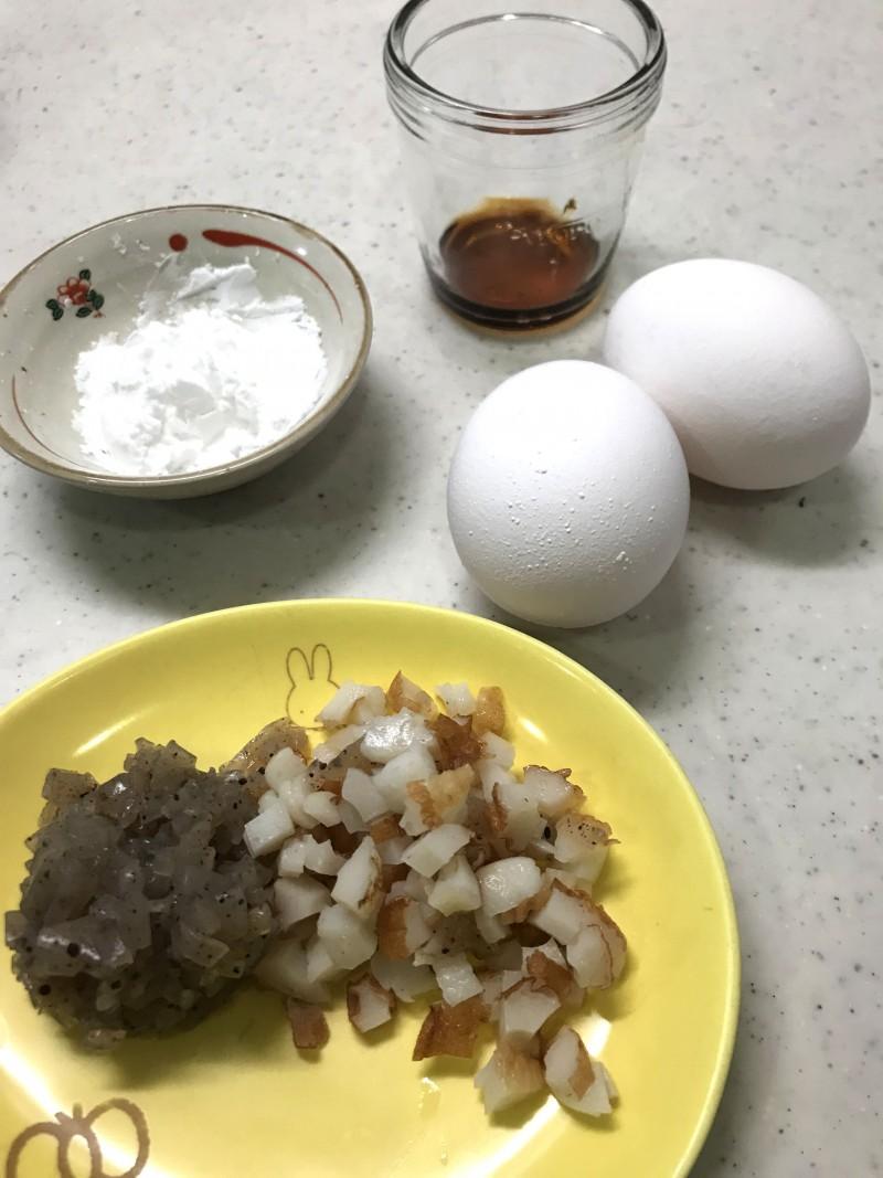 明石焼き風卵焼きの材料イメージ