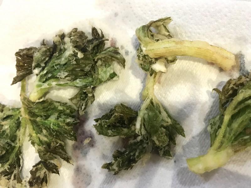 セロリの葉の天ぷら手順5