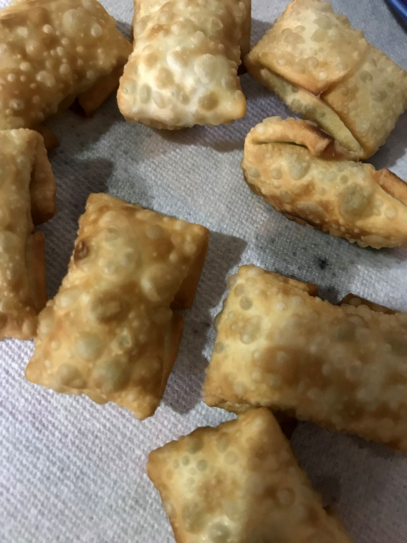 クリームチーズとハムの包み揚げ手順5