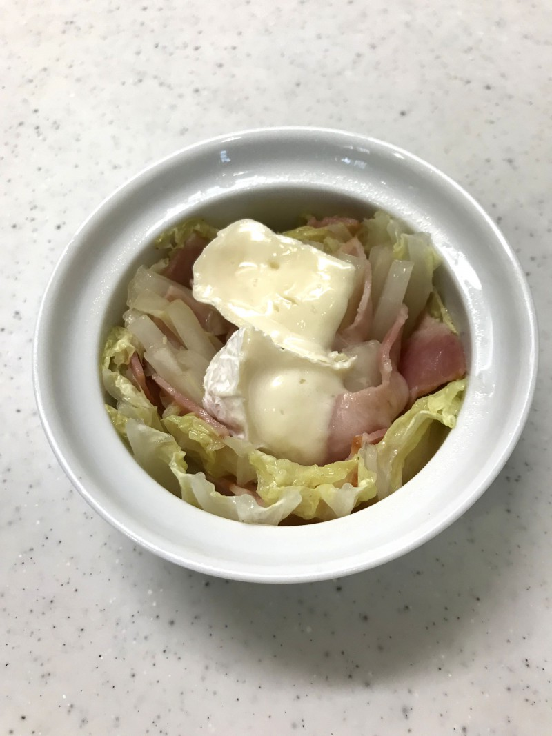 白菜とベーコンのミルフィーユ仕立て手順7