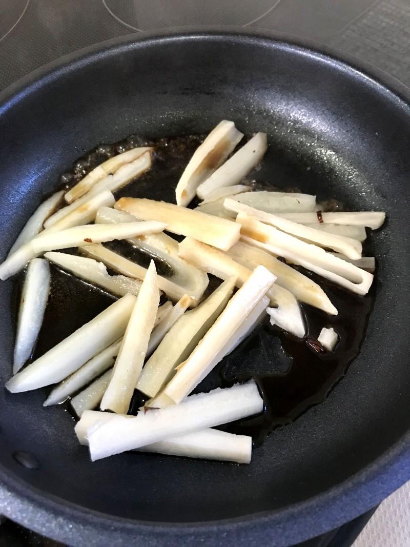 れんこんのぽん酢きんぴら手順4