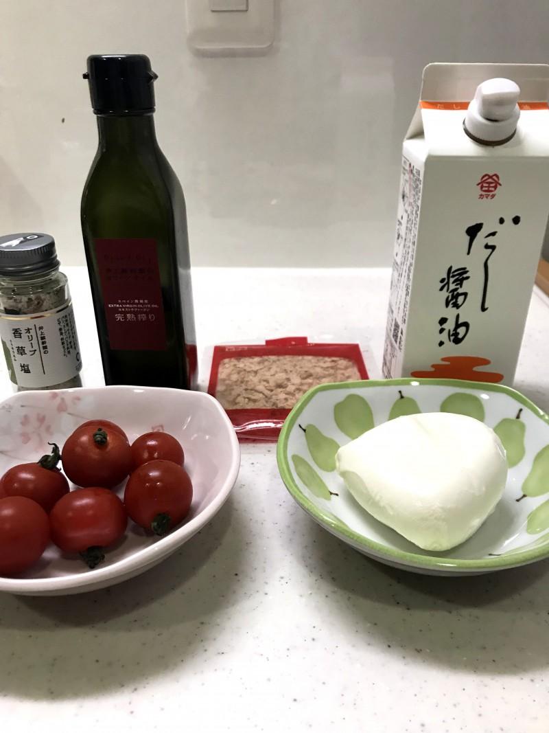 モッツァレラチーズとトマトの和風カプレーゼの材料イメージ