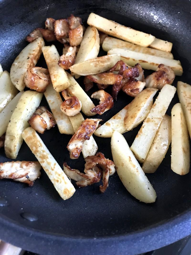 鶏皮ポテト手順7