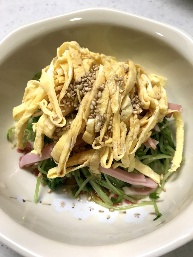 豆苗の中華風サラダ