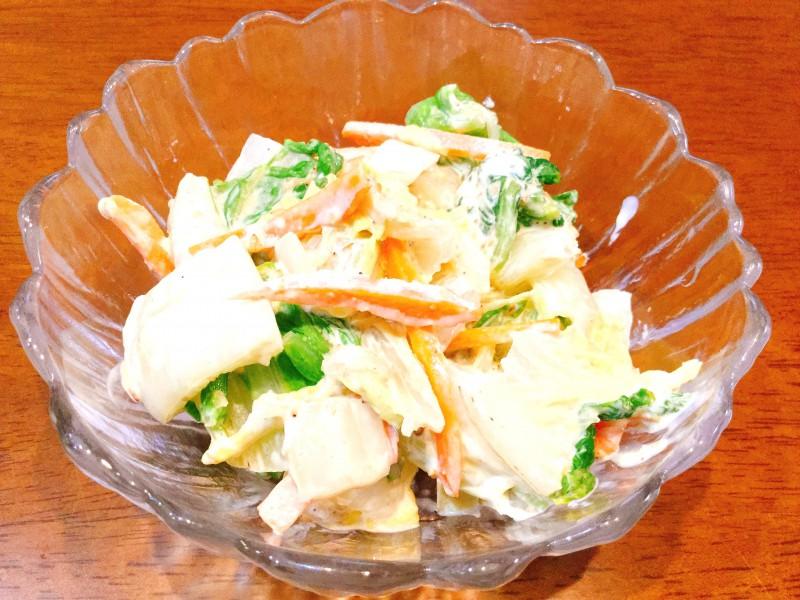 たっぷり白菜が食べられる!胡麻マヨポンサラダ