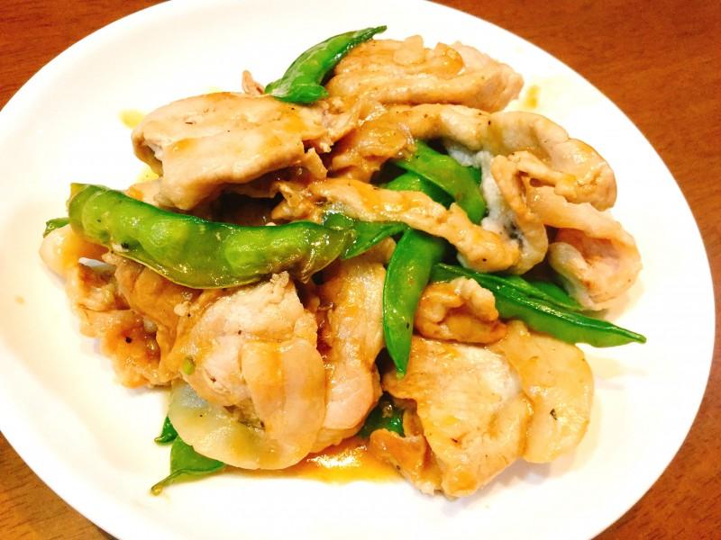 豚肉とさやいんげんの生姜焼き