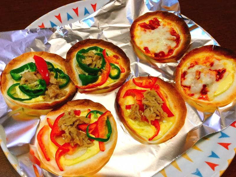 トッピングはお好みで!簡単マヨ餃子ピザ