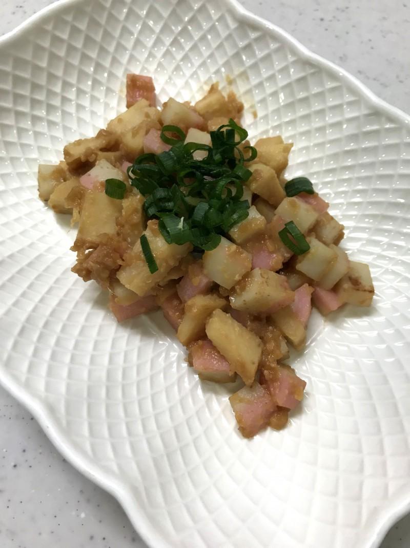 筍とかまぼこの味噌炒め
