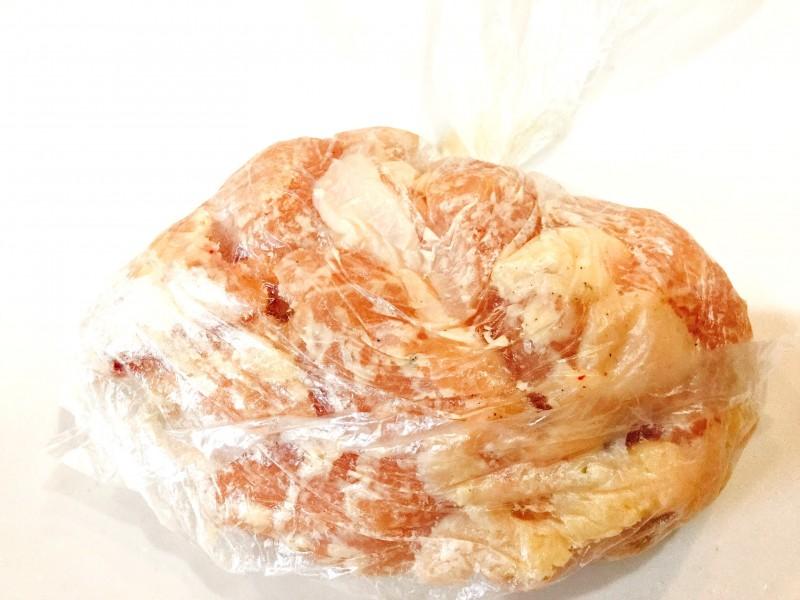 チーズがとろ~り!ピリ辛キムチのチキン手順1
