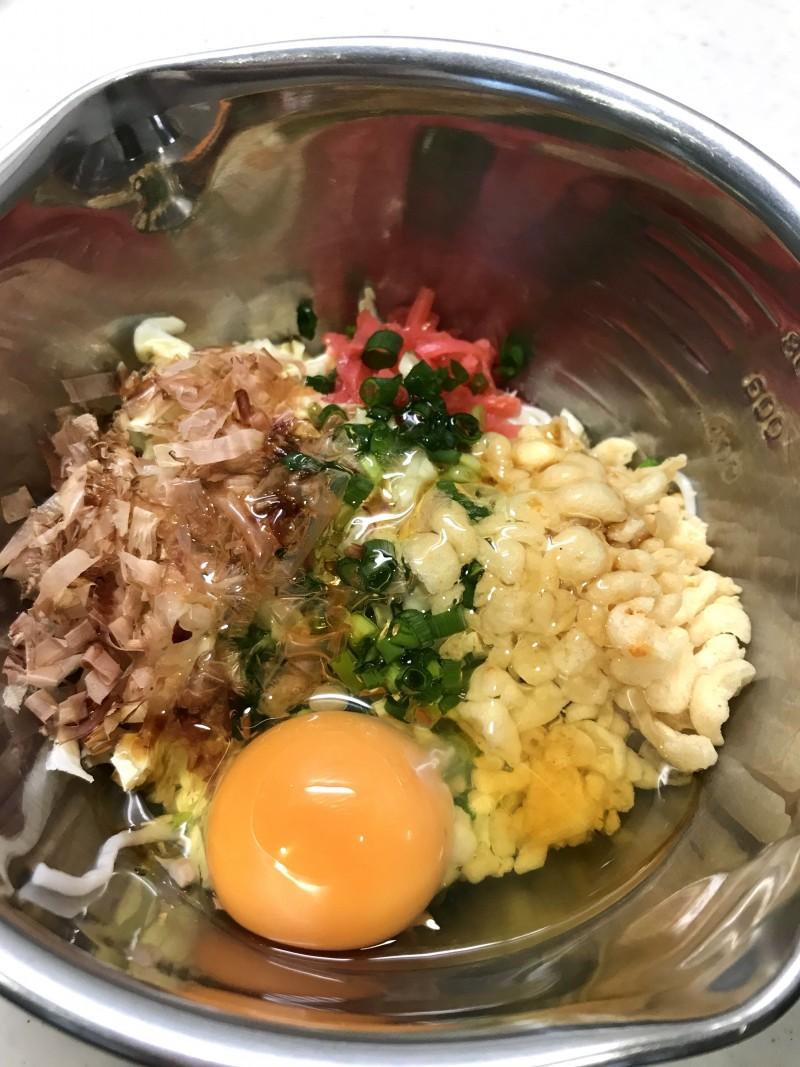 素麺入りお好み焼き手順2