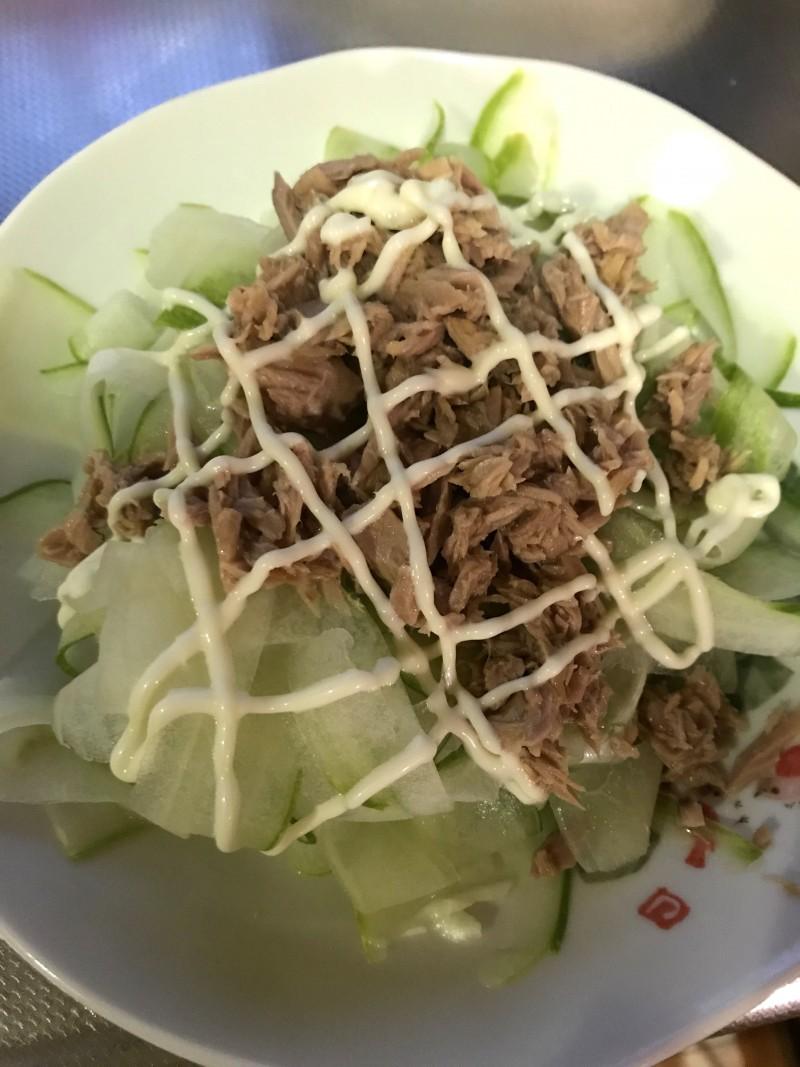 お化けきゅうりのサラダ手順4