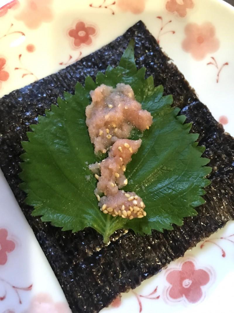 明太子の海苔巻きサラダ手順3