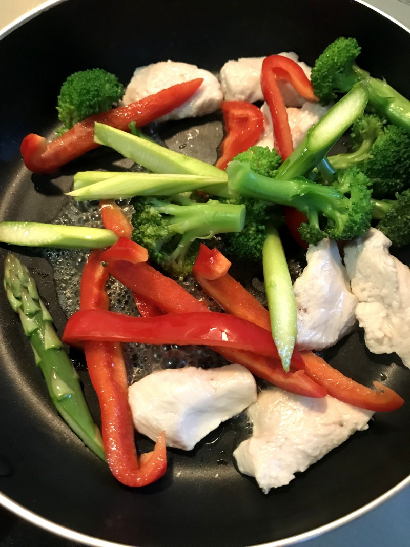 鶏肉とアスパラガスのマスタード炒め手順7