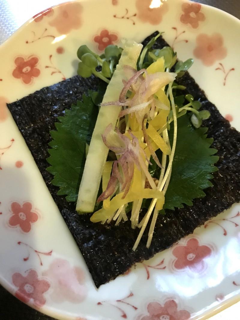 明太子の海苔巻きサラダ手順4