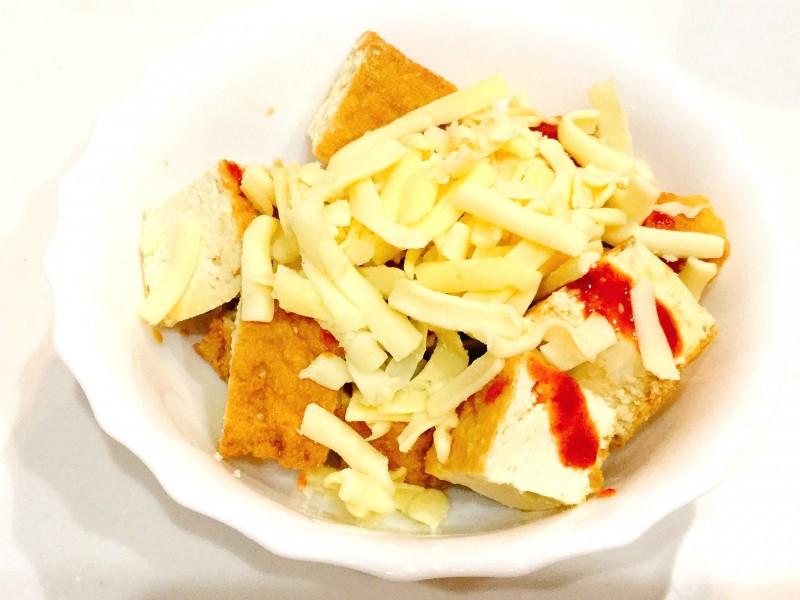 レンジであっという間!厚揚げとキムチのとろ~りチーズ手順2