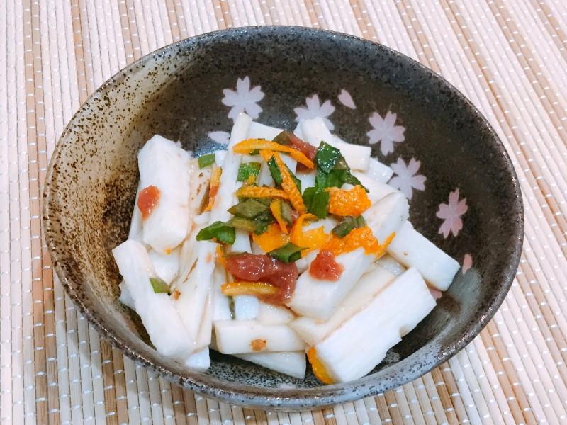 シャキシャキトロ~リ!長芋の梅柚子ポン酢和え