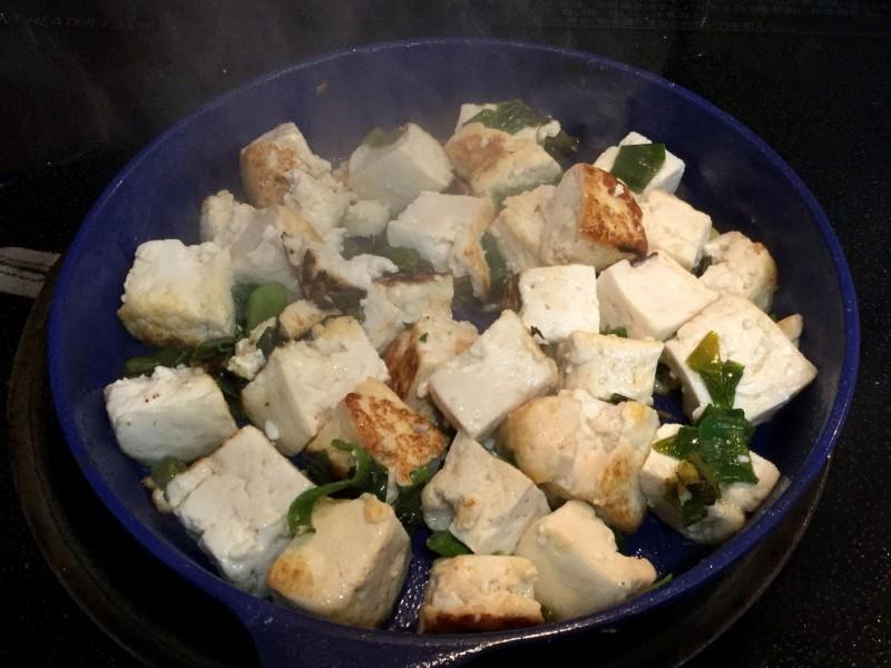 アツアツ!豆腐とネギのスタミナ炒め手順2