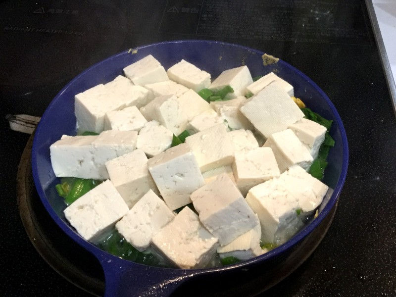 アツアツ!豆腐とネギのスタミナ炒め手順1