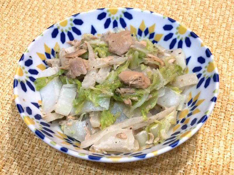 コクタップリ!白菜と大根のツナマヨ炒め