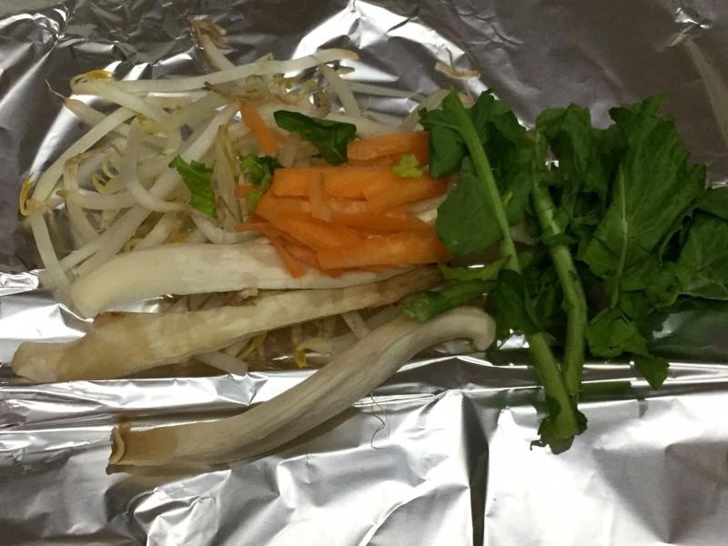 たっぷり野菜とタラのバター醤油ホイル焼き手順1